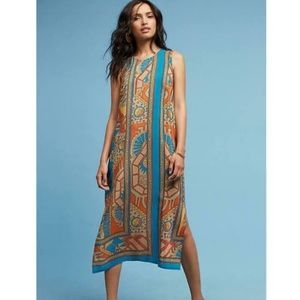 Anthropologie AKEMI + KIN Tanvi Silk Column Dress